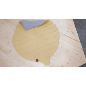 Horčicovožltá detská ľanová deka VIGVAM Design Buk