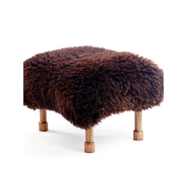 Stolička z ovčej kože Delyth Chocolate