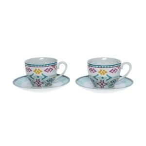 Set porcelánových hrnčekov a tanierikov Mint, 6 ks (200 ml)