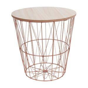 Malý odkladací stolík Clayre & Eef Copper