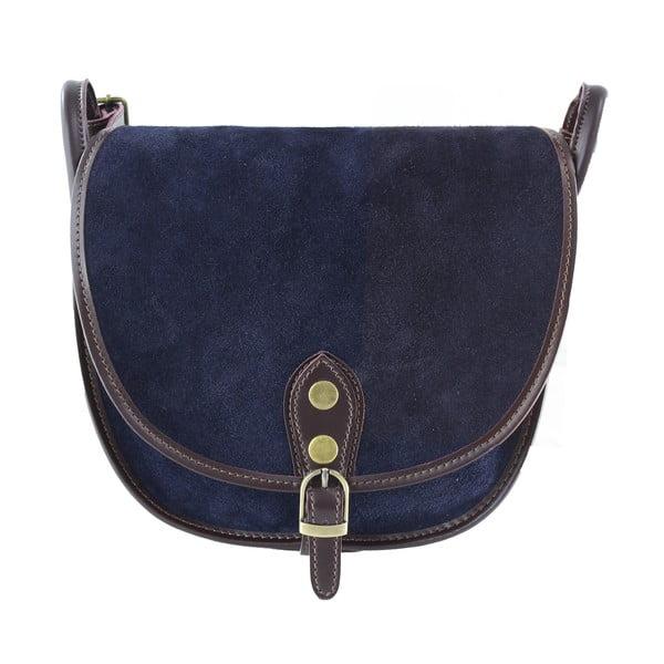 Kožená kabelka cez rameno Gina, modrá