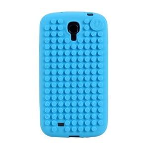 Pixelový obal na Samsung S4, blankytná modrá