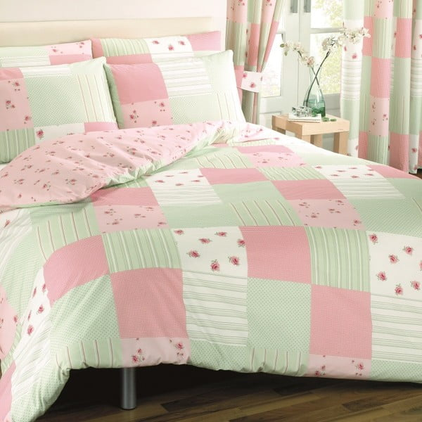 Obliečky Patchwork Pink, 200x200 cm