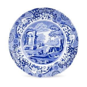 Sada 4 bielo-modrých tanierov Spode Blue Italian, ø 23 cm