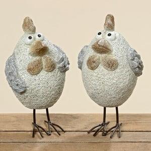 Sada 2 dekoratívnych kuriatok Pavlik, 25 cm