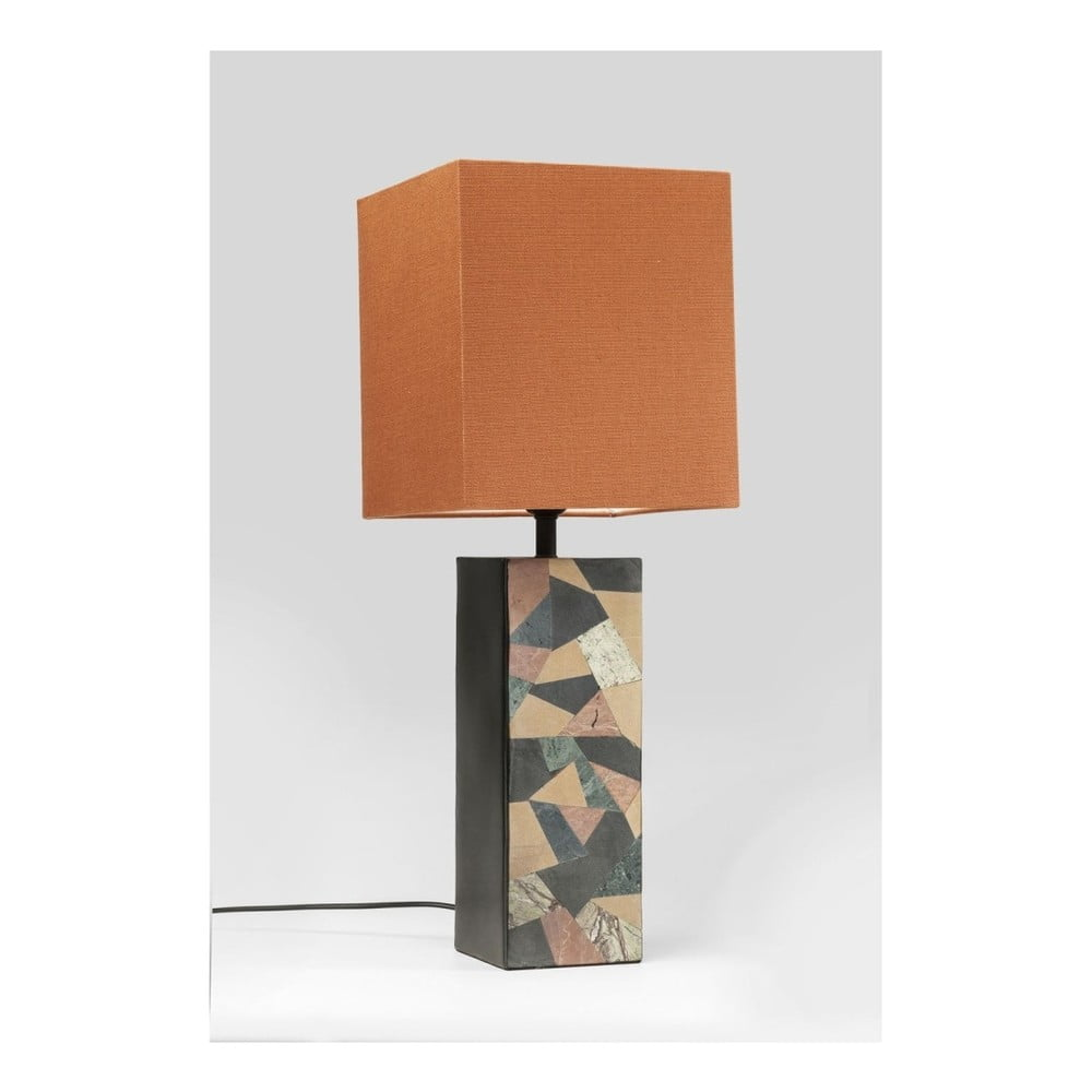 Stolová lampa s oranžovým tienidlom Kare Design 60ies