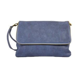 Modrá kožená listová kabelka Chicca Borse Rosa