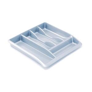 Sivý organizér do kuchynskej zásuvky z recyklovaného plastu Addis Eco Range