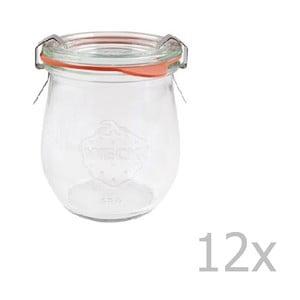 Sada 12 zaváracích pohárov Weck Tulpe, 220 ml