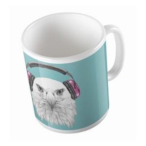 Keramický hrnček Eagle With Headphones, 330 ml
