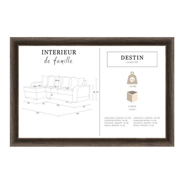 Slivkovofialová sedačka Interieur De Famille Paris Destin, ľavý roh