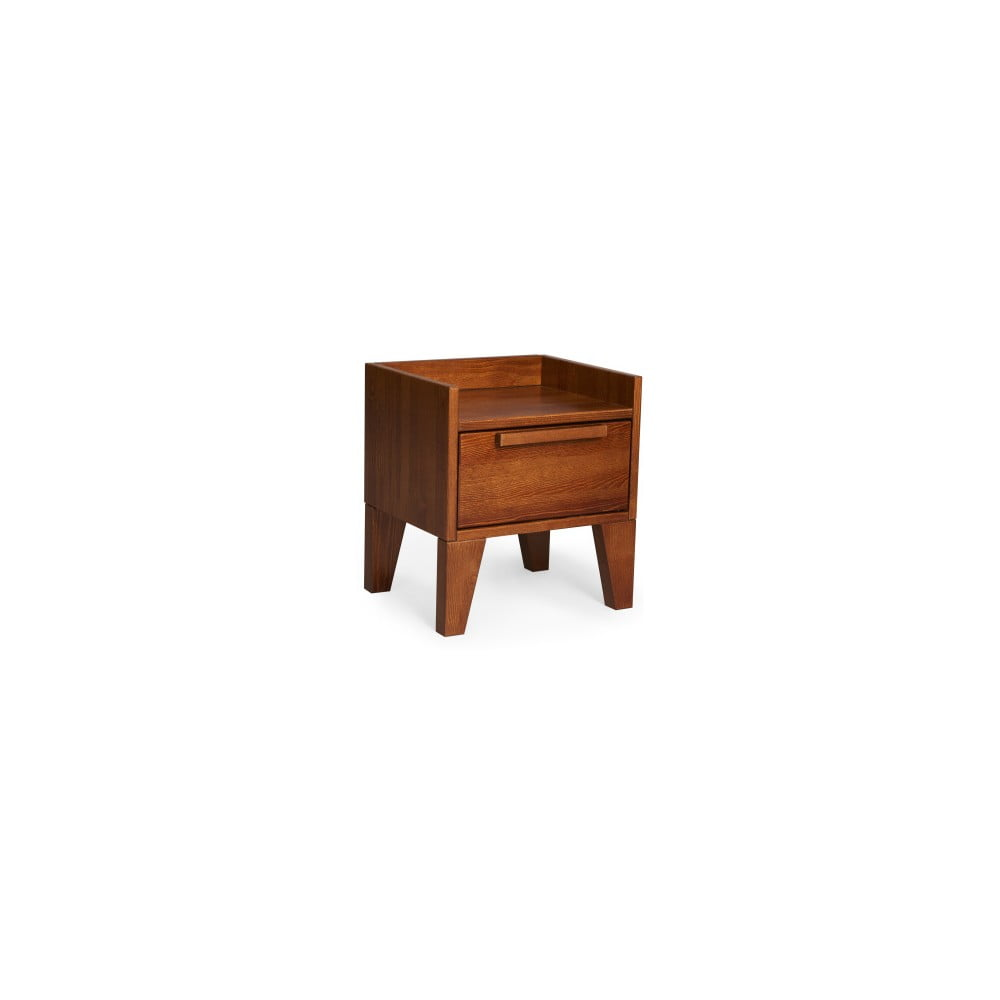 Nočný stolík z masívneho borovicového dreva SKANDICA Agava Dark