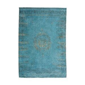 Tyrkysový koberec s prímesou bavlny Cotex Centro, 140 × 200 cm