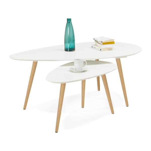 Sada 2 konferenčných stolíkov s bielou doskou Kokoon Gosmi