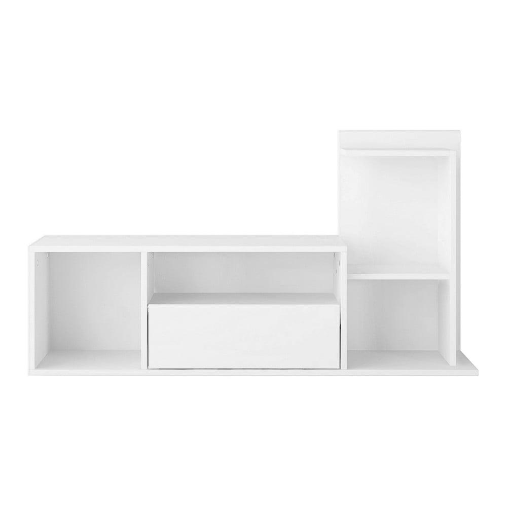 Biely TV stolík Sumatra, šírka 120 cm