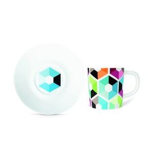 Hrnček na espresso s tanierikom Remember Hexagon