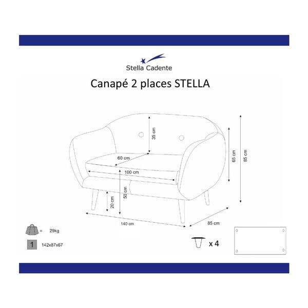 Tmavožltá dvojmiestna pohovka Scandi by Stella Cadente Maison