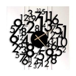 Čierne kovové nástenné hodiny Earl