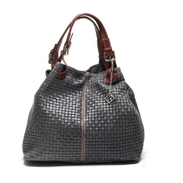 Kožená kabelka Isabella Rhea 858 Grigio
