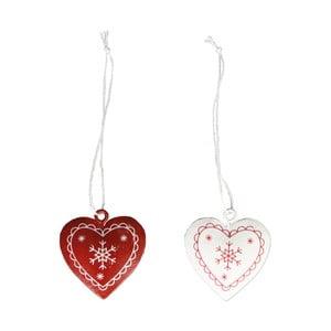 Sada 6 závesných dekorácií v tvare srdca Sass & Belle Hearts
