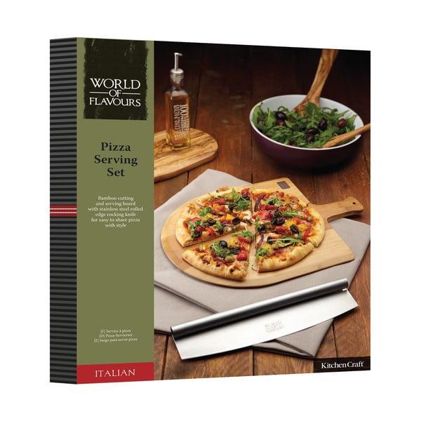 Doska s krájačom na pizzu Kitchen Craft Italian