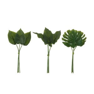 Sada 3 umelých listov J-Line Philodendron