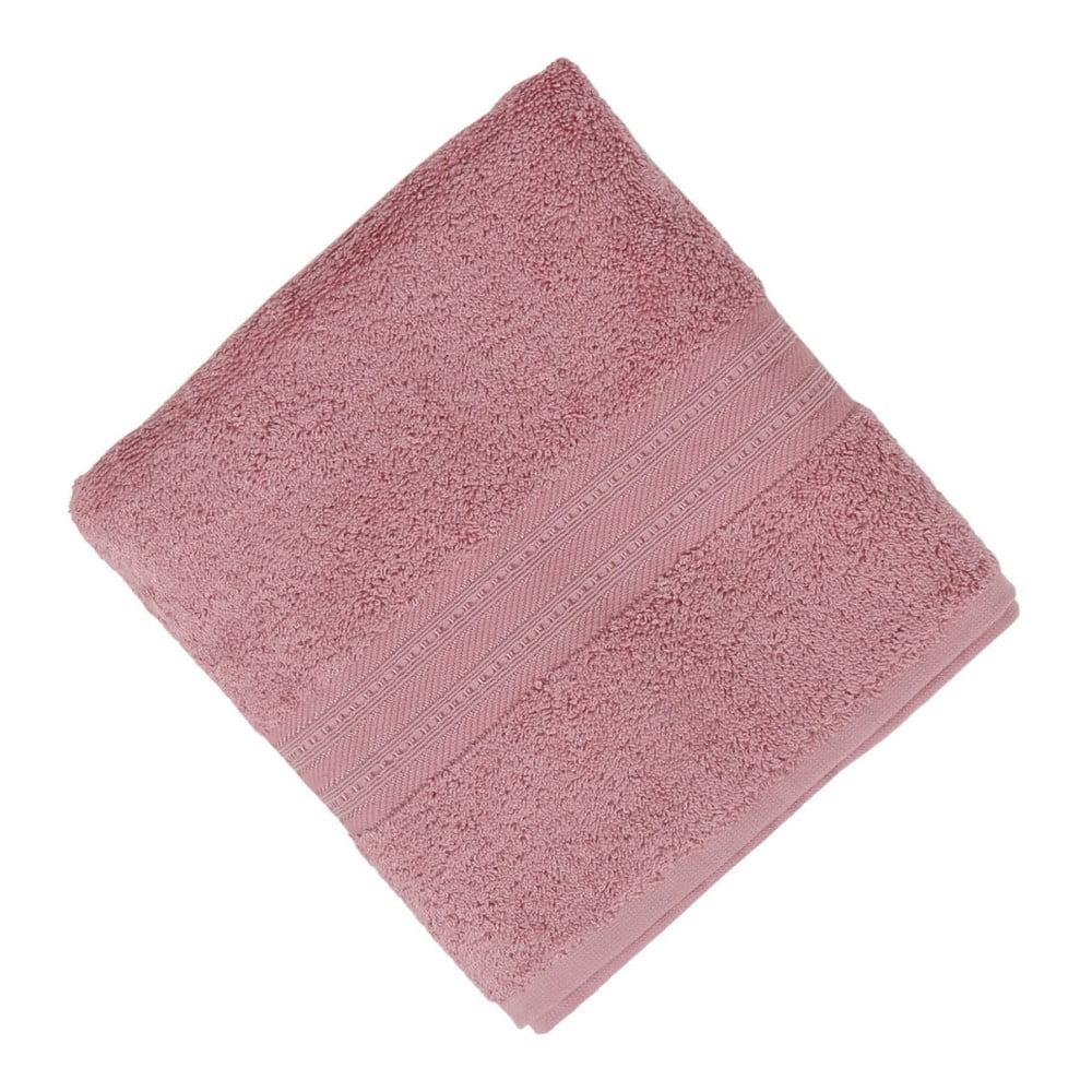Ružový uterák Lavinya, 50 x 90 cm