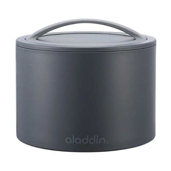 Termobox na desiatu Bento 600 ml, sivý