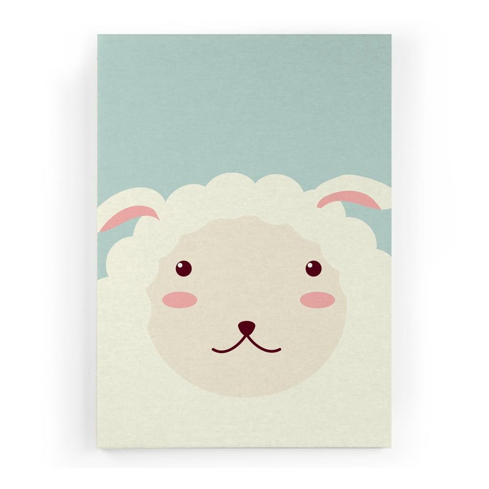 obraz na pl tne little nice things sheep 60 x 40 cm bonami. Black Bedroom Furniture Sets. Home Design Ideas