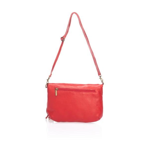 Kožená listová kabelka Riya, červené