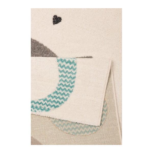 Detský hnedý koberec Zala Living Cat, 120×170cm