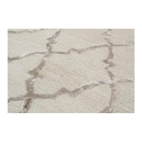Ručne tuftovaný krémový koberec Bakero Kohinoor, 153 x 244cm