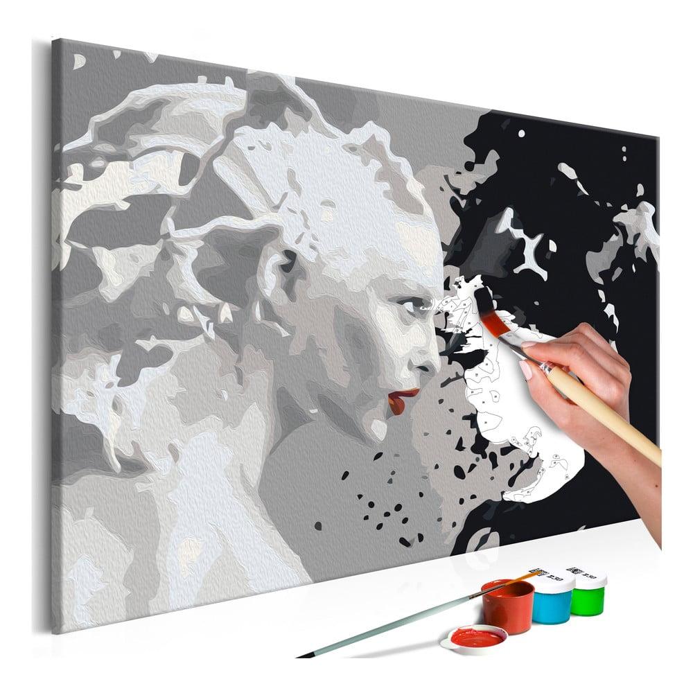 DIY set na tvorbu vlastného obrazu na plátne Artgeist Faces, 60 × 40 cm