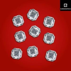 Sada 9 magnetiek Eurographics Square Diamond