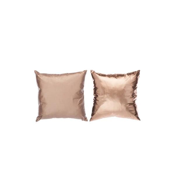 Set 2 vankúšov Shiny 40x40 cm, ružové zlato