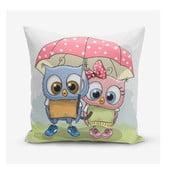 Obliečky na vaknúš s prímesou bavlny Minimalist Cushion Covers Umbrella Owls, 45×45 cm
