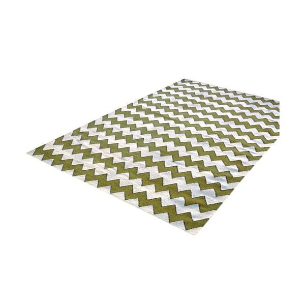 Vlnený koberec Bakero Kilim Design Two Green, 160x230 cm