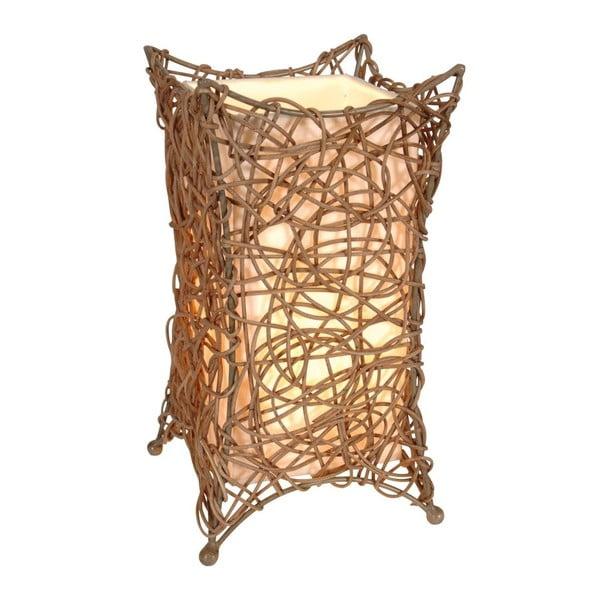 Hnedá stolová lampa Naeve Korbchen