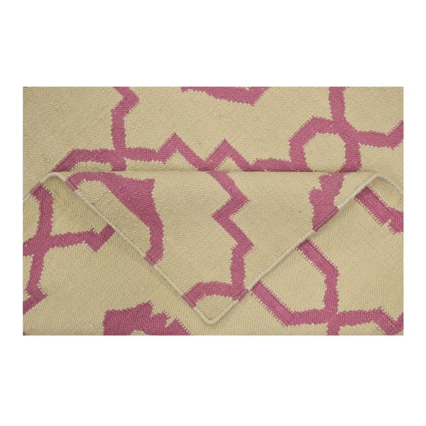 Ručne tkaný koberec Kilim JP 11019 Pink, 90x150 cm