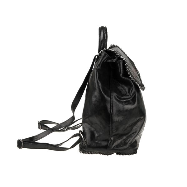Kožený batoh Situla, čierny
