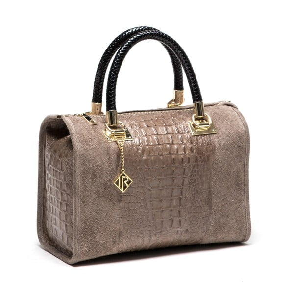 Kožená kabelka Poure 822 Fango