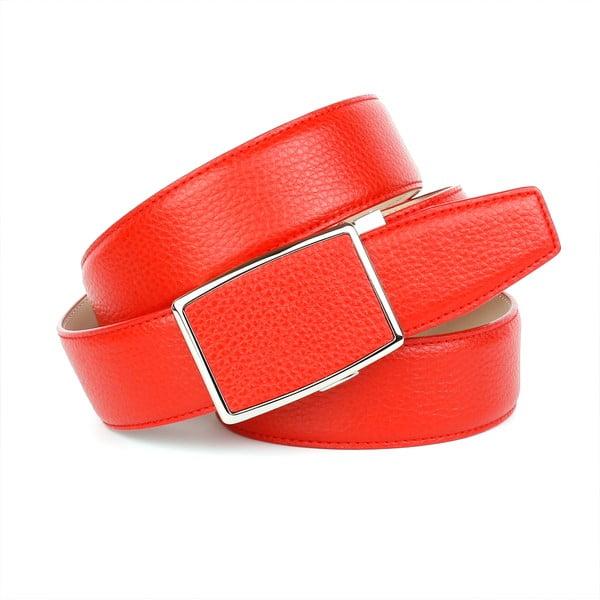 Dámsky kožený opasok 18T60 Red, 100 cm