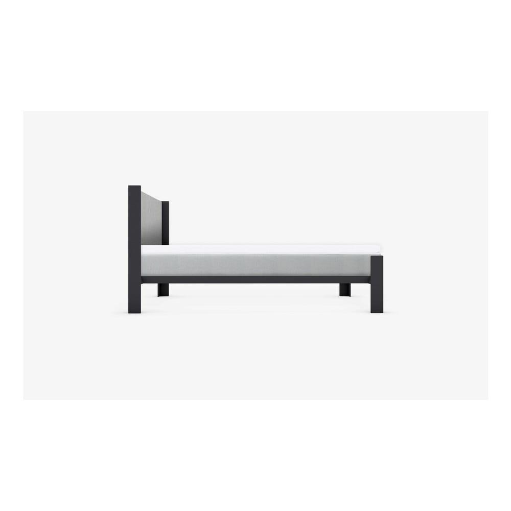 Sivé čelo postele muun, šírka 160 cm