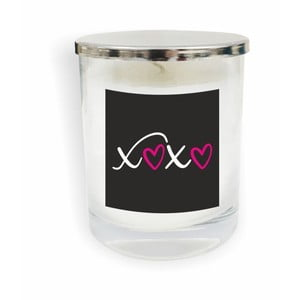 Biela sviečka North Carolina Scandinavian Home Decors Motto Glass Candle V18