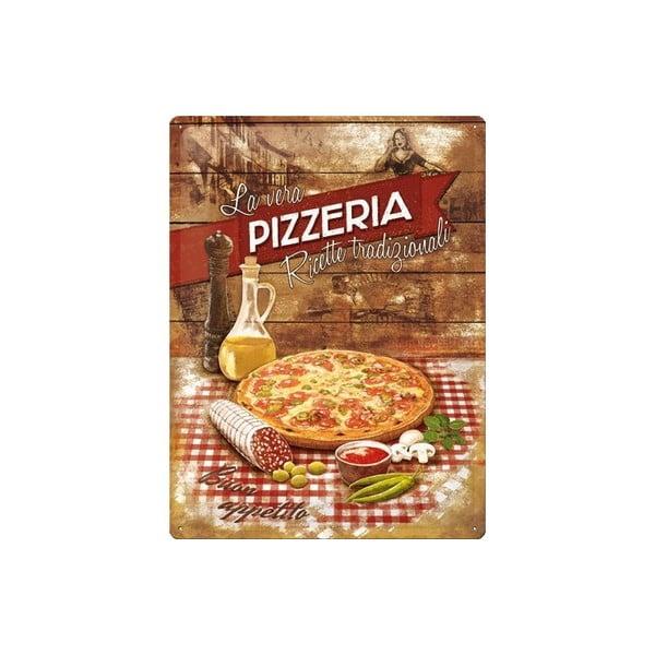 Plechová ceduľa Pizzeria, 30x40 cm