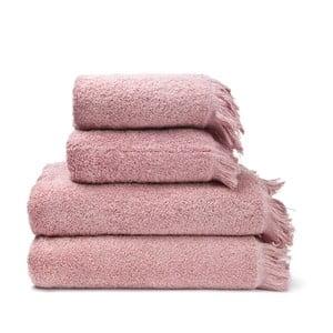 Set 2 ružových bavlnených uterákov a 2 osušiek Casa Di Bassi Bath