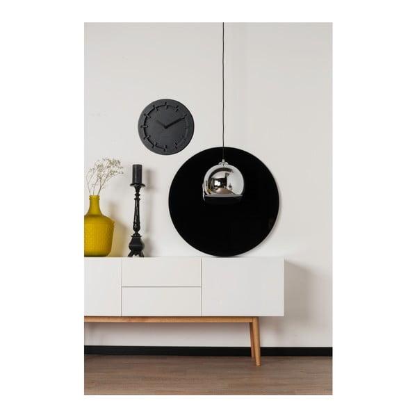 Čierne nástenné hodiny Zuiver Pulp Round