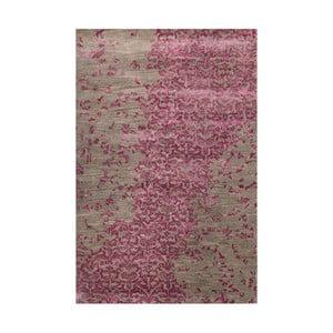 Ručne tuftovaný fialový koberec New Jersey Lilac, 122 x 183 cm
