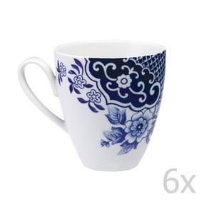 Sada 6 porcelánových hrnčekov Willow Love Story, 420 ml