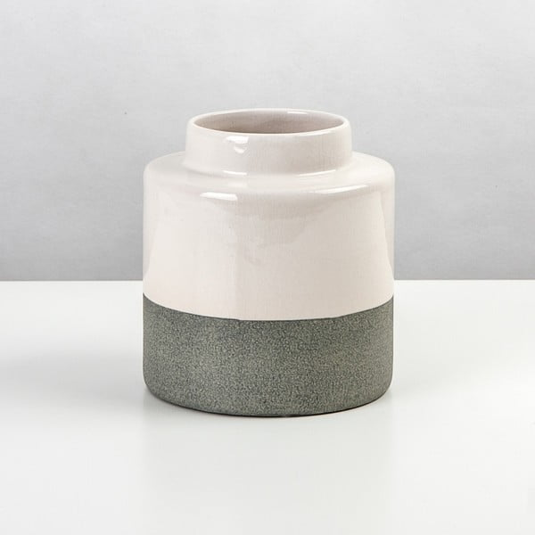 Keramická váza Jungle Krém, výška 16 cm